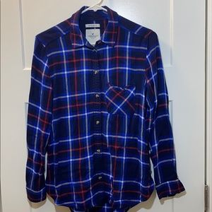 American Eagle Outfitters buttondown plaid flannel